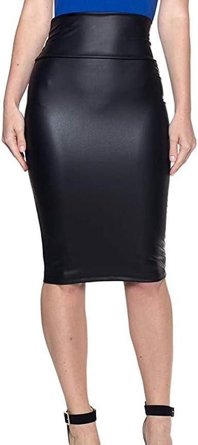 Lomsarsh Falda a Media Pierna de Mujer - Faldas Ajustadas de ...