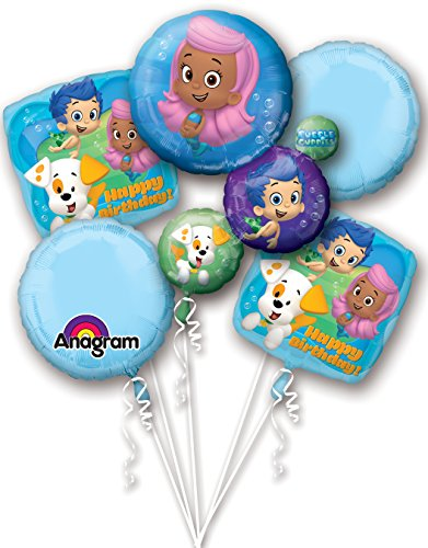 Anagram International Bubble Guppies Happy Birthday Package Bouquet, -