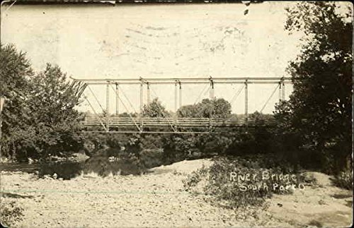Bridge South Park (River Bridge South Park, Ohio Original Vintage Postcard)