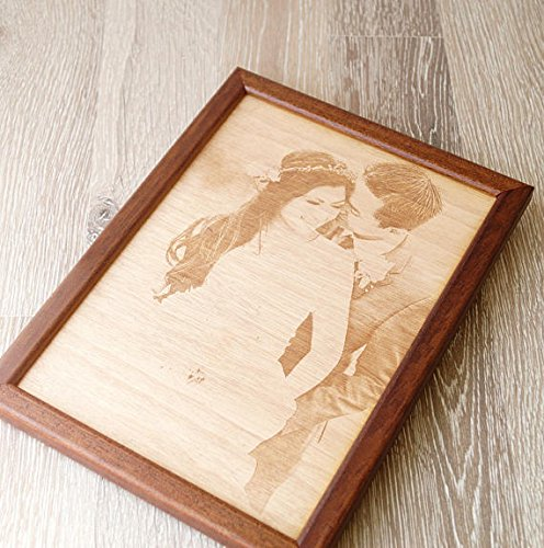 5th Wedding Anniversary Gift.Engraved Wooden Picture 5th Wedding Anniversary Gift Picture Engraving On Wood Wooden Anniversary Gift Your Wedding Picture On Wood