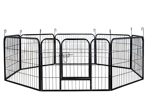 16 Panel Heavy Duty PlayPen Cage Pet Dog Fence Exercise Metal Kennel by ByaHome