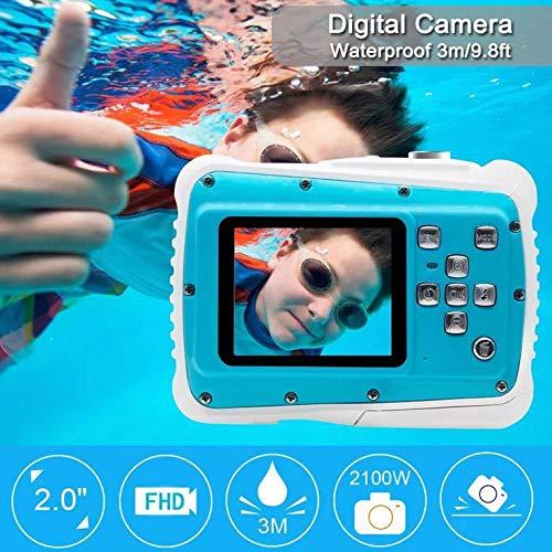 Waterproof Digital Camera Kids 8X Digital Zoom, Kids Digital Camera 21MP HD Underwater Action Camera Camcorder 2.0 inch LCD Screen, Free 16GB Memory Card by Adoreco (Image #7)