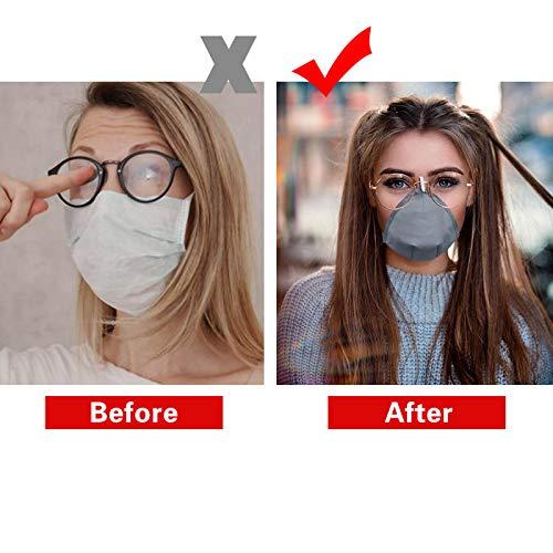 Neu Atmungsaktive Mundschutz Bandage Anti-Fogging Gesichtsschutz mit Haken(Entwickelt für Menschen, die eine Brille tragen)