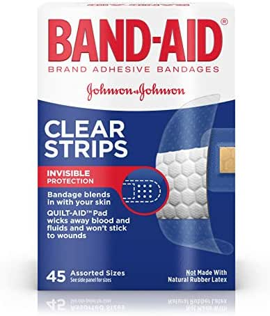 Bandages & Gauze: Band-Aid Clear Strips