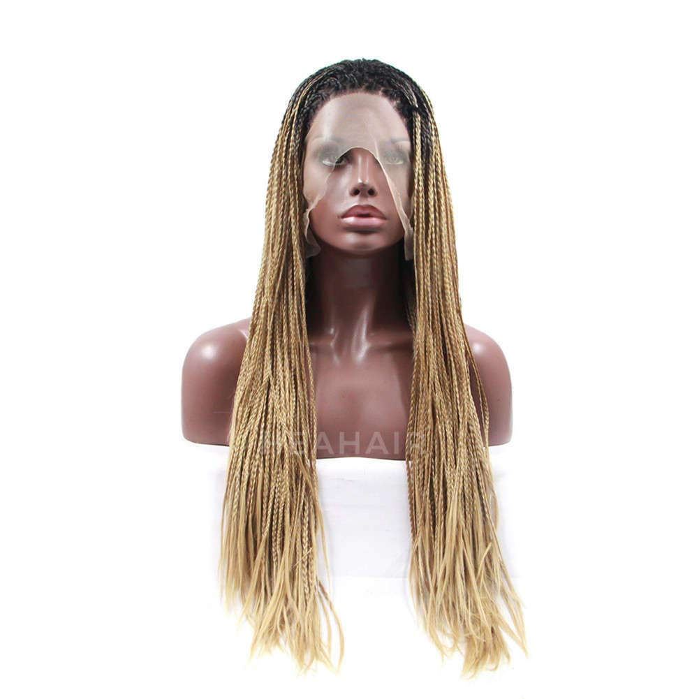 HEAHAIR Ombre Blonde Long Twist Braids Dreadlocks Synthetic Lace Front Wigs HS5012 (24'', Ombre Blonde)