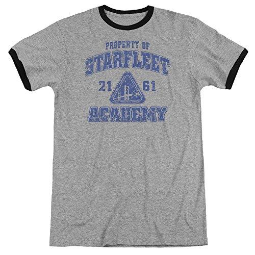 (Sons of Gotham Star Trek - Old School Adult Ringer T- Shirt 2XL )