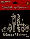 Disney Nightmare Before Christmas Jack Skellington Vinyl Window Decal