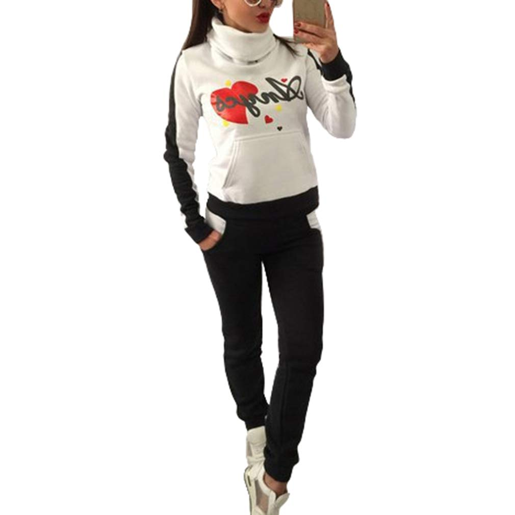 hibote Conjunto de Chándal de Mujer, 2 Pcs Moda Estampada ...