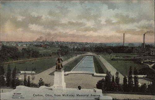 View of Town from McKinley Memorial Avenue Canton, Ohio Original Vintage - Ohio Memorial Canton Mckinley