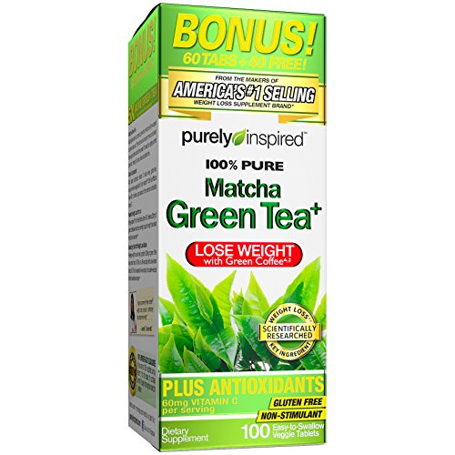 Purely Inspired Matcha Green Tea, Green Tea Extract, 100% Green Tea, 100 Count ()