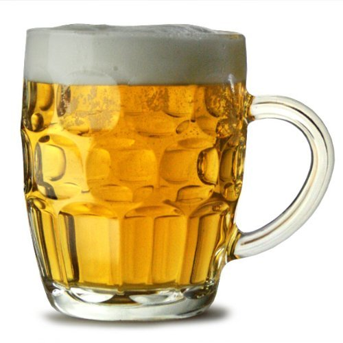 Traditional Glass Pint Tankards CE - Set of 2 | Also known as Dimpled Beer Tankard, Britannia Pint Mug, Beer Stein, Beer Mug Arcoroc