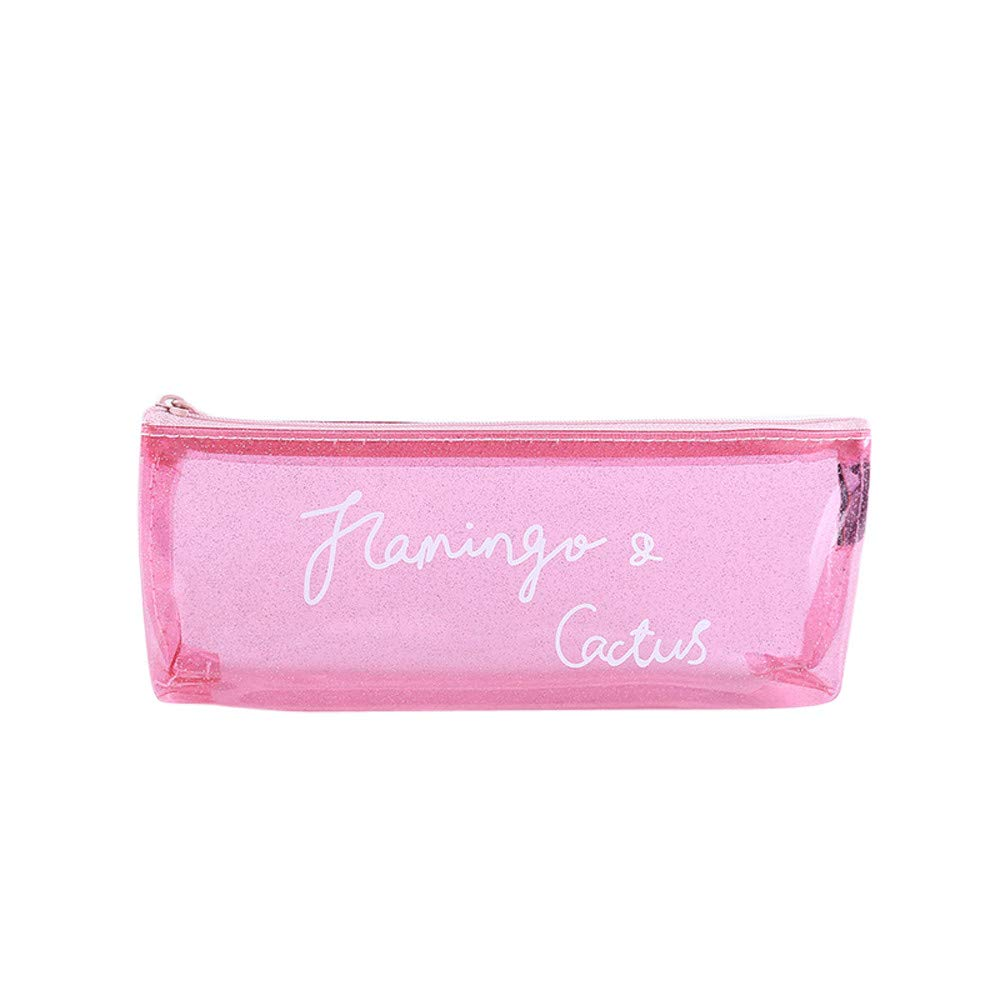 FIged Pencil Case, Pen Storage Bag Assorted Color Pencil Case Travel Portable Hanging Organizer Office Pouch Students School Stationery