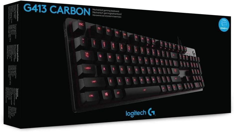 Logitech Teclado mecánico para juegos G413 (diseño de teclado ...