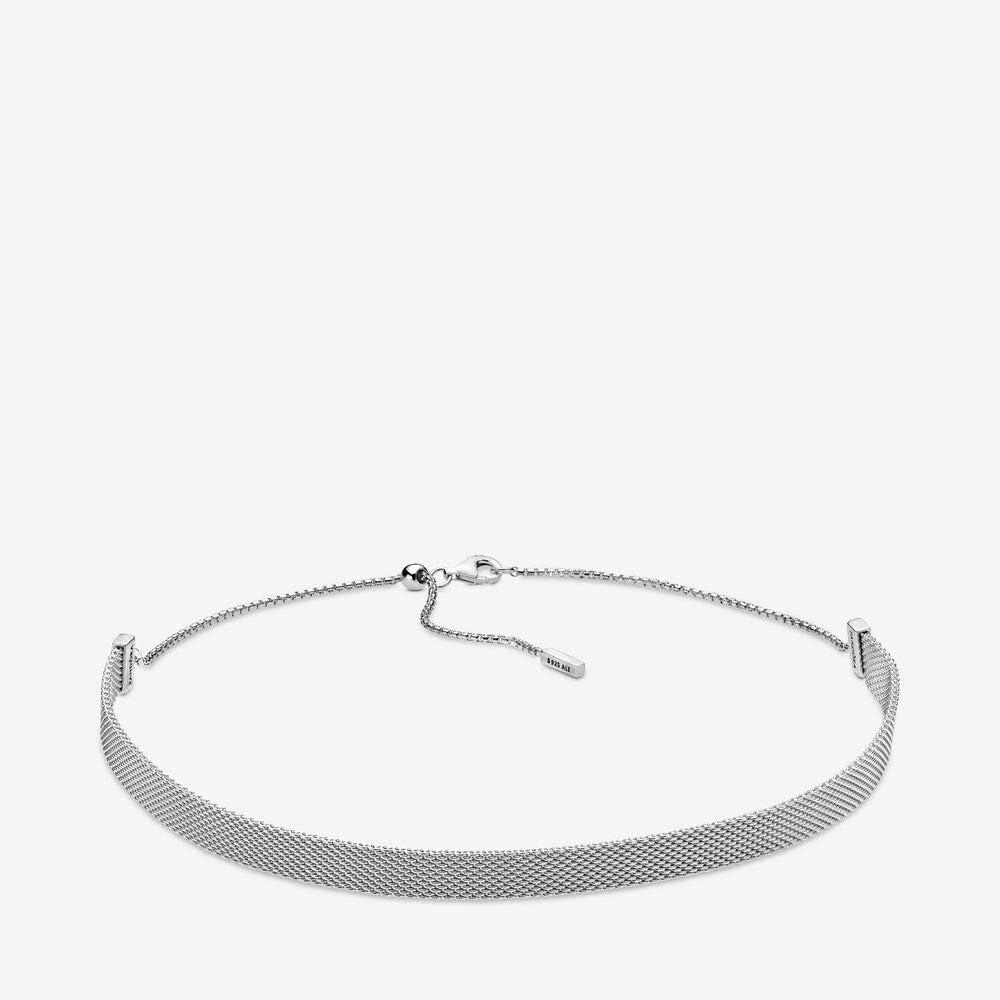 Amazon Com Pandora Reflexions Mesh Choker 925 Sterling Silver
