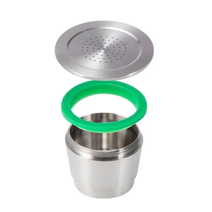 Kreema Capsulas recargables de cafe de acero inoxidable capsulas reutilizables con cuchara para maquinas Nespresso: Amazon.es: Hogar