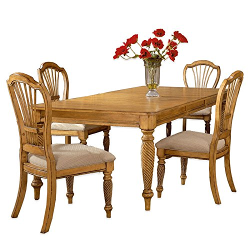 5-Piece Rectangle Dining Set in Antique Pine