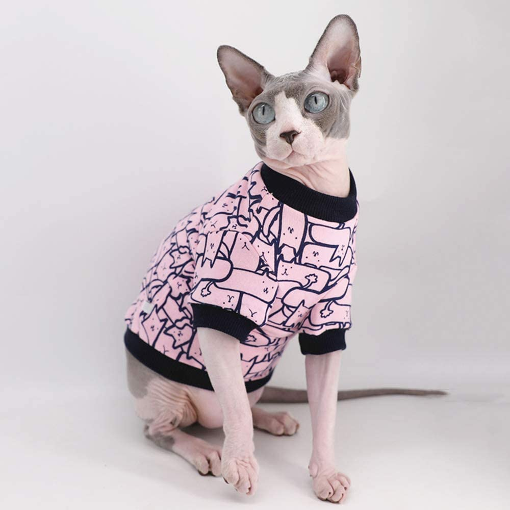 NELIT Sphynx Cat Clothes Cat Clothing Stain Resistant Coral Velvet Turtleneck Winter Warmth Coat-camouflage/_XS