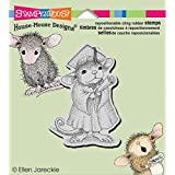 Stampendous House Mouse Cling Stamp 3.5 x 4-inch, Graduate, Gray
