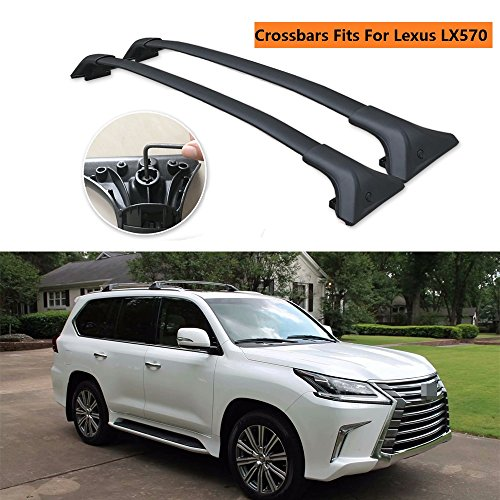 Chebay Fits for Lexus LX570 2016 2017 2018 2019 Crossbars Cross Bars Roof Rail Luggage Rack Baggage Carrier