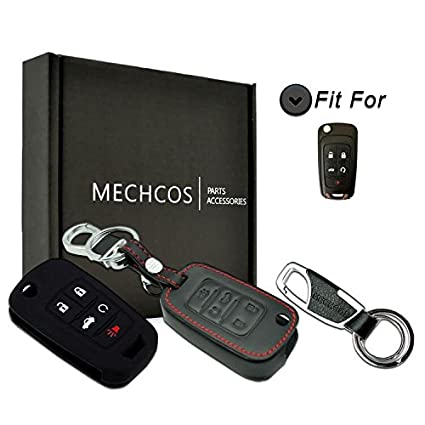 Key Case For Car Wfmj 1x Silicone 5 Buttons Smart Remote Key Cover 1x Keyring Chain For Chevrolet Camaro Cruze Equinox Malibu Sonic Spark Volt Interior Accessories