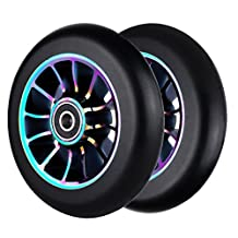 2Pcs Replacement 110 mm Pro Stunt Scooter Wheel with Abec 9 Bearings Fit for MGP/Razor/Lucky Pro Scooters