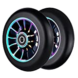2Pcs Replacement 110 mm Pro Stunt Scooter Wheel with Abec 9 Bearings Fit