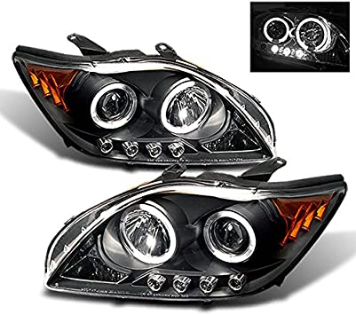 Scion Tc Headlights >> For Scion Tc Sport Coupe Black Bezel Dual Halo Projector Led Headlights Replacement Left Passenger Lamps