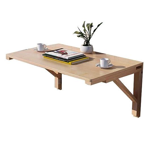 LXLA-mesa de pared abatible Plegable de Madera Maciza, Estudio de ...