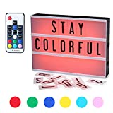 Wireless Light Box, CrazyFire Cinematic A4 Lightbox with 104 Letters/Numbers,7 Colour Changing Version with Remote Control,Freestanding or Wall Mounted(7 Colour)