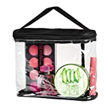 Best Bags For Less Makeup Travel Bags - Clear Cosmetic Organizer Pouch for carrying Makeup, Toiletry Review