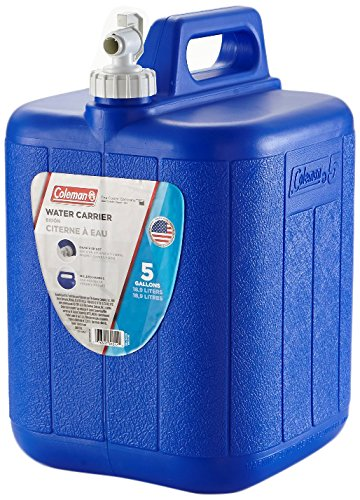 Coleman Jug With Water Carrier, 5 Gallons, - Carrier Water Blue