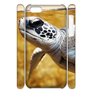 3D iPhone 5C Case baby green sea turtle, Iphone 5c Case For Men Cheap - [White] Sexyass