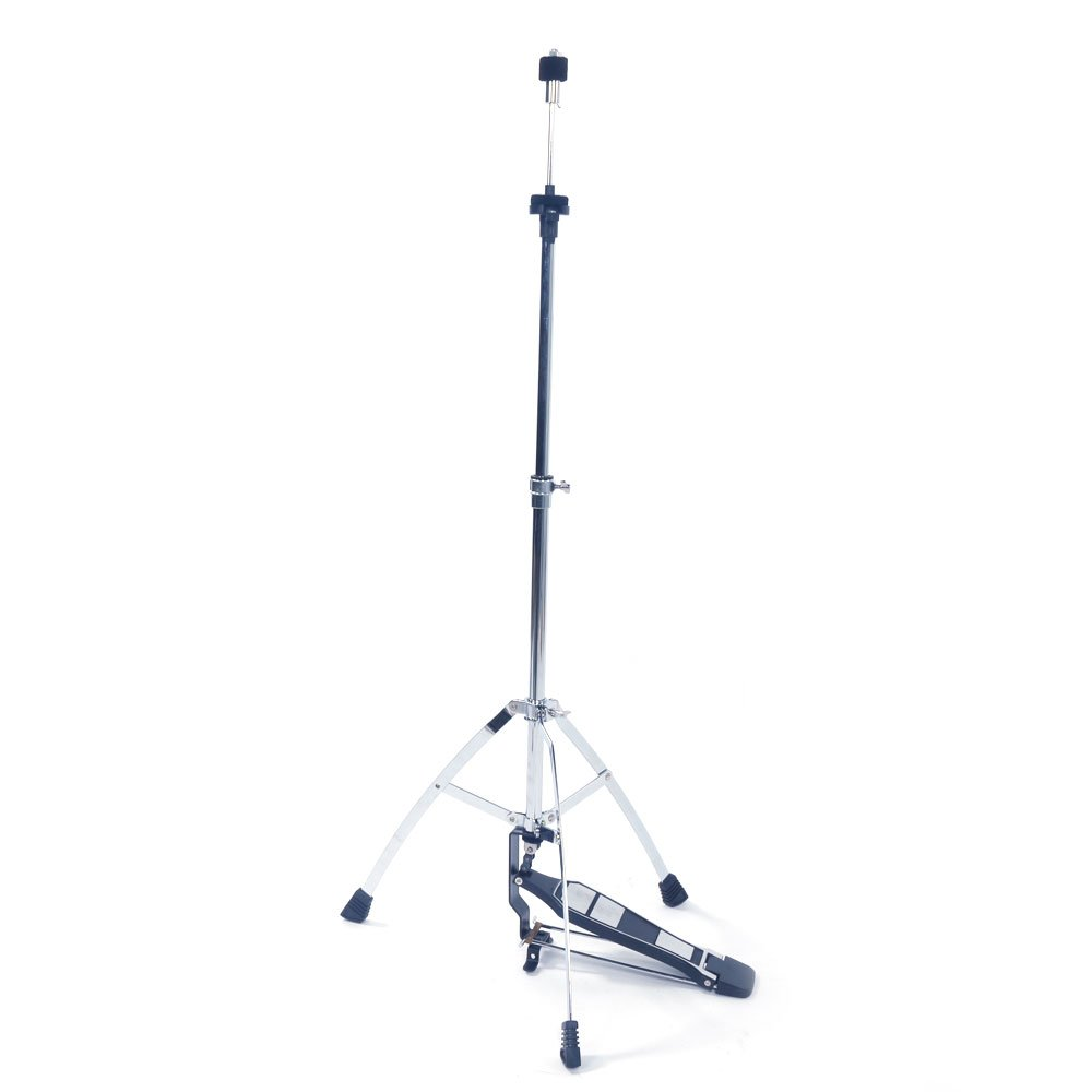 OASIS FOX Professional Pedal Control Style Hi-Hat Stand with Pedal,Silver & Black
