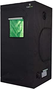 3x3x6 Feet Mylar Hydroponic Grow Tent with Obeservation Window and Floor Tray for Indoor Plant Growing (36