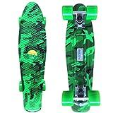 Musesland 22 inch Skateboard for Kids Complete Retro Cruiser Western Scrawl