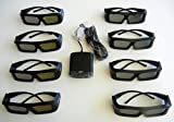 JVC Pk-ag1-b Glasses (EIGHT) and JVC Emitter PK-em1 for 2X Brightness with all JVC projectors and Silver screen