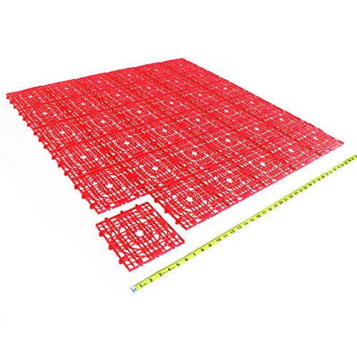 Red pack of 36 - 9.76 sq ft modular square Indoor Outdoor...