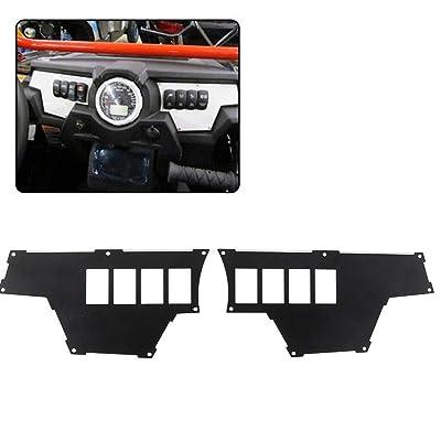 8 Switch Aluminum RZR Dash Panel for Polaris RZR XP 1000 Set of 2 Black Powdercoated Dash Plate: Automotive