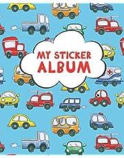 My Sticker Album: Blank Sticker Book for Collecting Stickers | Reusable Sticker Collection Album for Kids - Cars and trucks - Gift For Children
