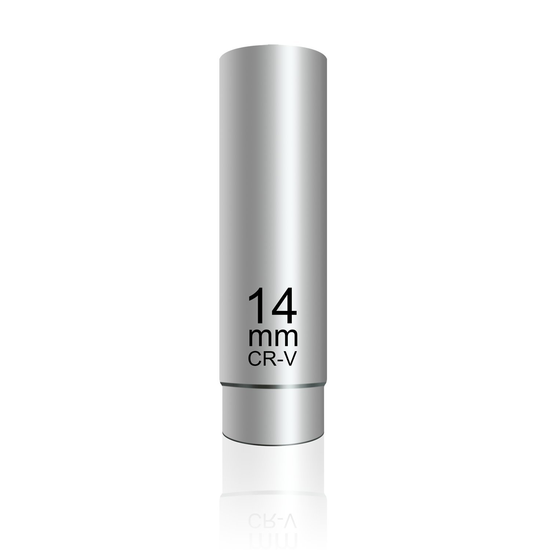 PANOVO 14mm Thin Wall Spark Plug Socket,3/8-Inch Drive 12-Point Spark Plug Socket Magnetic for BMW, Nissan, MINI