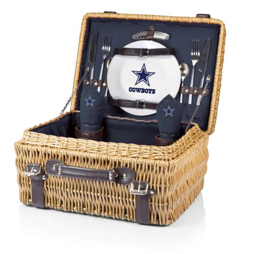 NFL Dallas Cowboys Champion Picnic Basket with Deluxe Service for Two, Navy