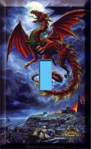 Cool Alchemy Dragon Light Switch Cover Plate