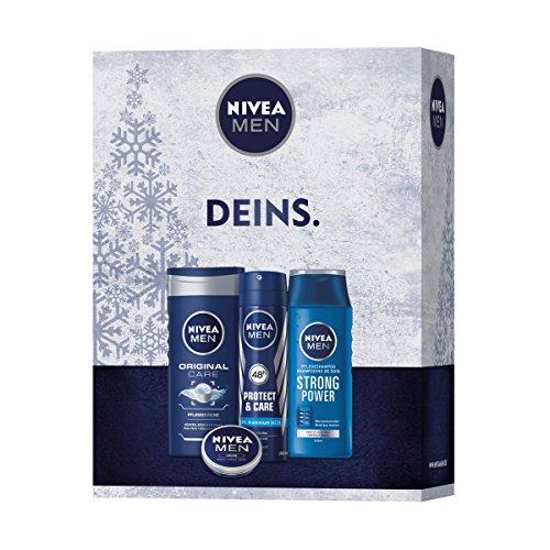 Nivea Men Geschenkset, Care Set, 1er Pack (1 x 4 Stück)