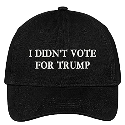 I Didn't Vote For Trump Embroidered Soft Low Profile Adjustable Cotton Cap