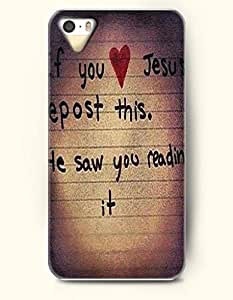 iPhone 5 5S Case OOFIT Phone Hard Case ** NEW ** Case with Design If You Jesus Epost This. He Saw You Reading It.- Pious Monologue - Case for Apple iPhone 5/5s