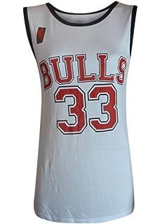 Camiseta de baloncesto para mujer, de los Chicago Bulls de la NBA, 33,