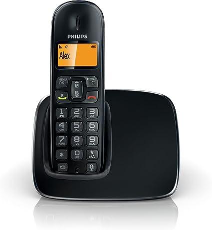 Philips CD191 Solo - Teléfono fijo inalámbrico, color negro (importado): Amazon.es: Electrónica