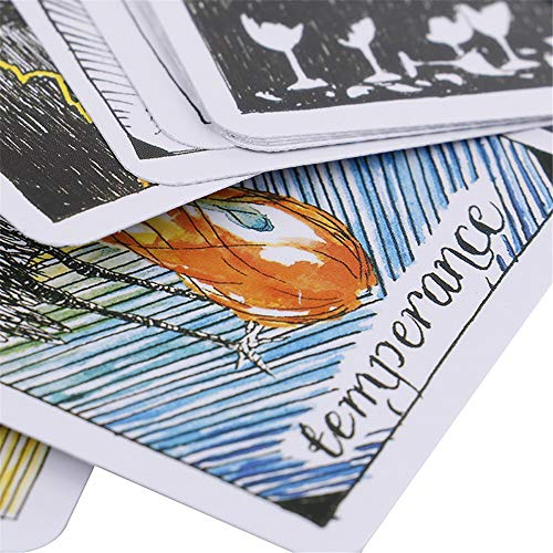MonLiya 78Pcs/Set- Wild Unknown Tarot Deck Universal Mysterious Future Telling Game Card Set with Colorful Box Guessing Board Game Gift Poker Desk Toys by MonLiya (Image #7)