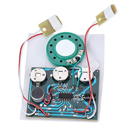 (Voice Module, 30s Recordable Music Sound Voice Module Chip 0.5W with Button Battery (Wired Double Button Control) )