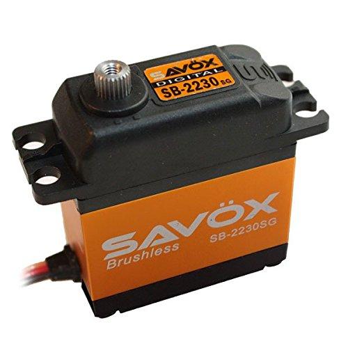 Digital Servo Surface (Savox SB-2230SG High Voltage, High Torque, Brushless Motor, Steel Gear, Tall Size Digital Servo (0.13/583.3))